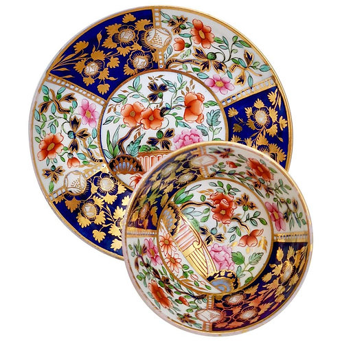 Coalport teacup, London shape with Imari pattern, 1815-1820