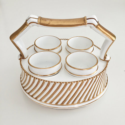 Egg holder with four cups, EJD Bodley 1875-1892