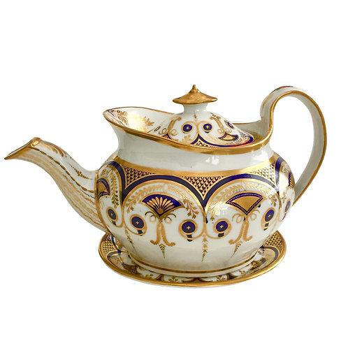 Regency Period teapot, boat shape New Hall ca 1812