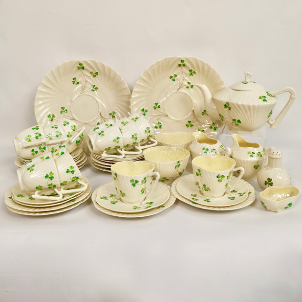 "Belleek ""Harp"" tea service"