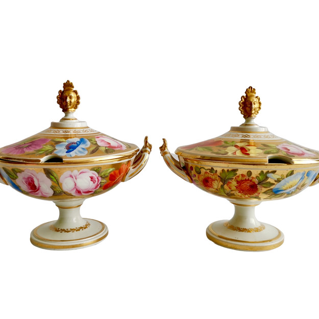 Coalport Marquess of Anglesey tureens, ca 1820