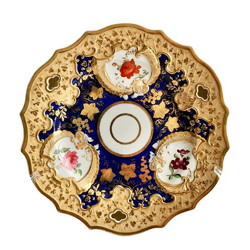 Ridgway plate, cobalt blue and gilt, Regency ca 1820