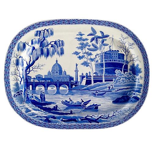 "Spode pearlware meat platter, ""Tiber"" pattern, 1811-1833"