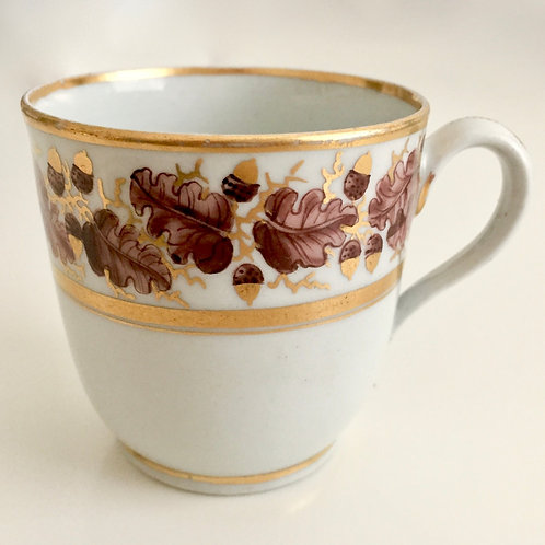 Georgean orphaned coffee cup with Acorns, New Hall 1790