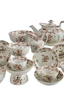 New Hall tea service, knitting wool pattern, 1795-1810