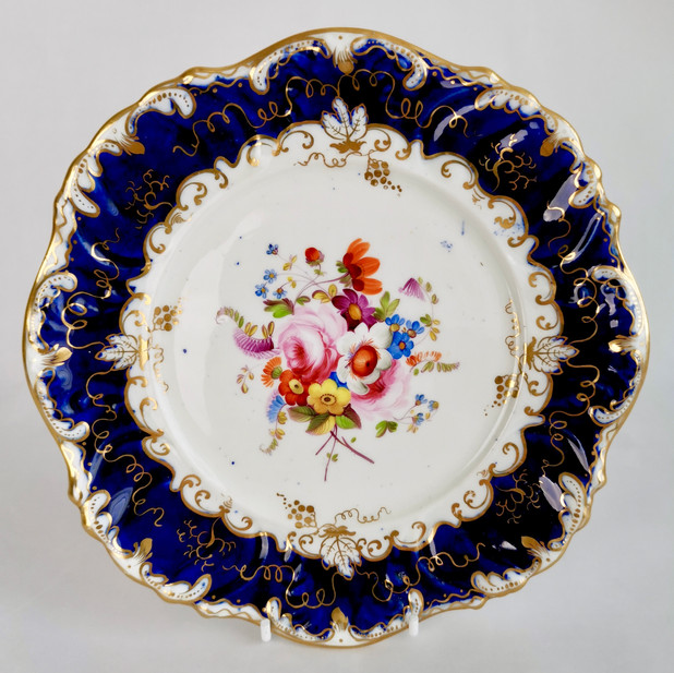 Coalport tureen stand or small plate, Jabey Aston 1833