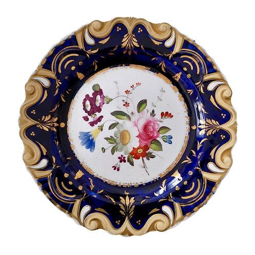Moustache plate by Machin, flowers patt. 733, ca 1825