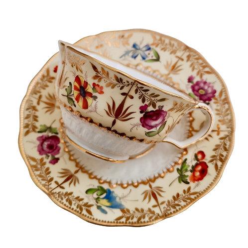 Coalport teacup, hockeystick moulding patt. 996, ca 1825