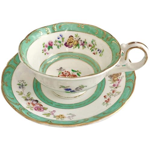 H&R Daniel teacup, Sutherland shape, unregistered pattern ca 1830