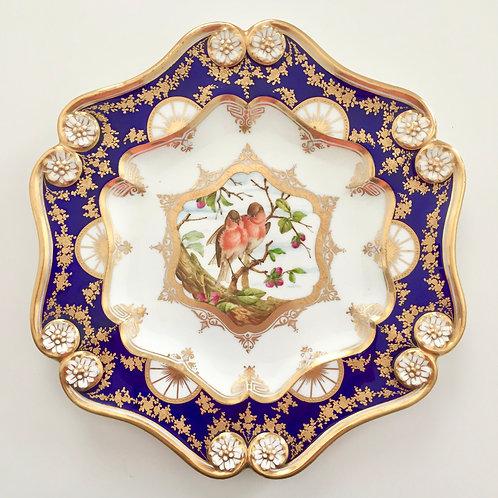 Cabinet plate with birds, Coalport ca 1885
