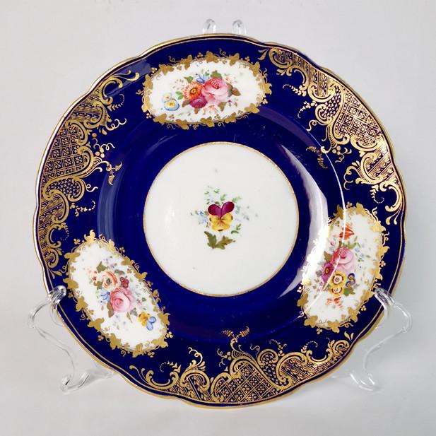 Coalport dessert plate, The North Euston, 1841-1860