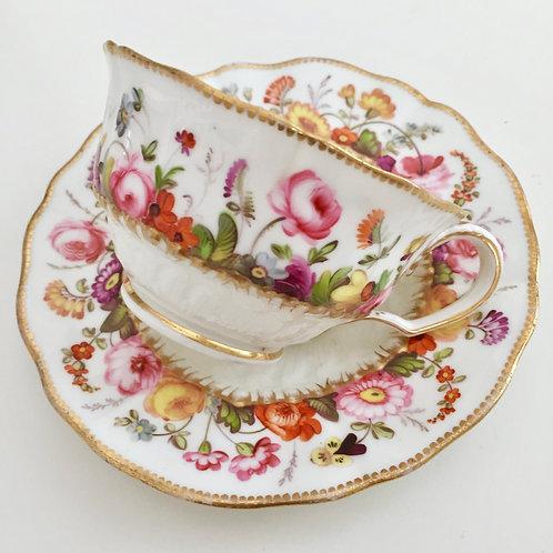 Coalport teacup painted by David Evans, ca 1825