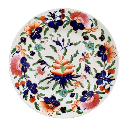 Coalport dessert plate, Imari pattern, ca 1820