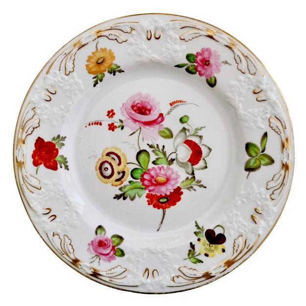 Coalport blind moulded plate