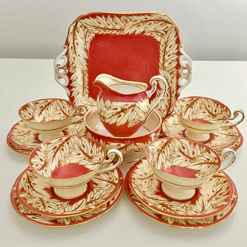 Elegant Tea Set for Four, Royal Worcester, pre-war 1938