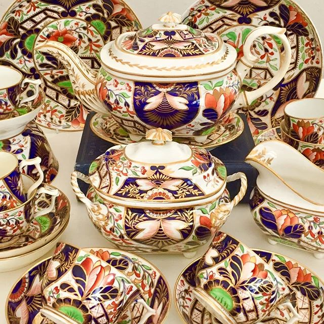 Crown Derby tea service, ca 1815