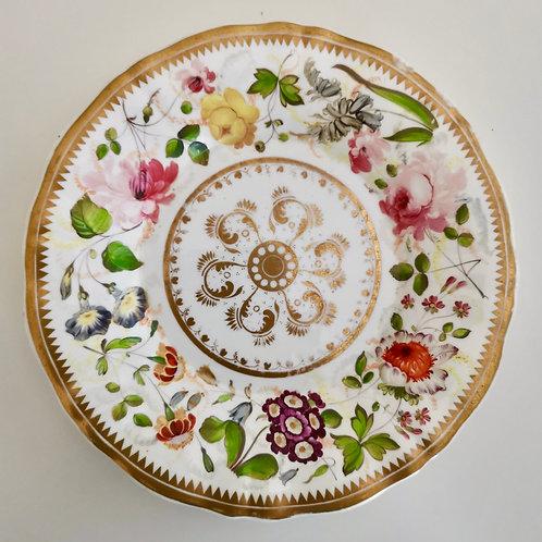 Coalport dessert plate attr. to David Evans, ca 1825