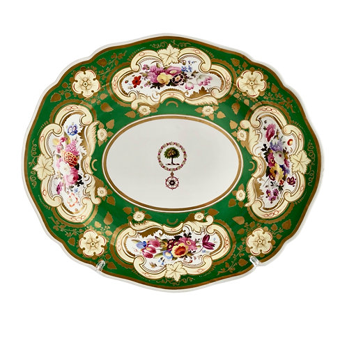 Chamberlains Worcester meat platter, Brazilian Order of the Rose, ca 1829