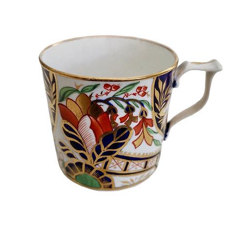 "Derby orphaned coffee can, ""Japan"" Imari pattern, ca 1810"