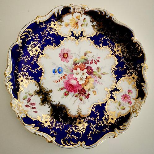 """Coalport dessert plate, """"Old Coalport 1800-1830"""" for Harrods, 1891-1921"""