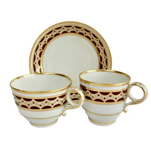 Flight & Barr true trio, brown and gilt pattern, 1792-1804