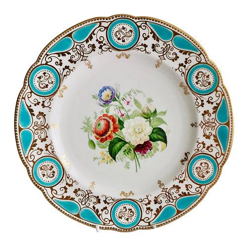 Sir James Duke & Nephews plate, flowers, Victorian 1860-1863 (1)