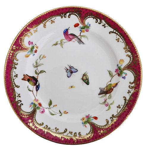Coalport small plate, humming birds by John Randall, ca 1865 (1)