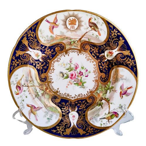 Coalport John Rose plate, Duke of Rutland service, ca 1805 (1)