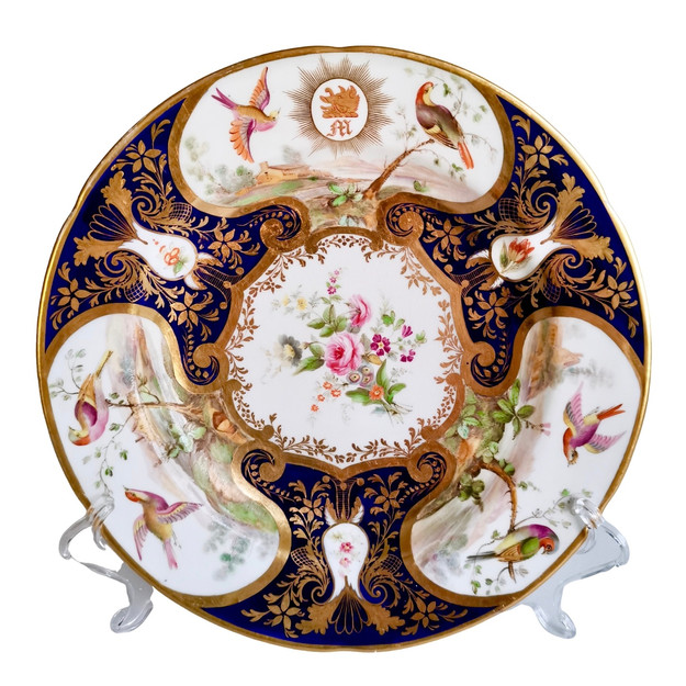 John Rose Coalport plate, duke of Rutland service (1)