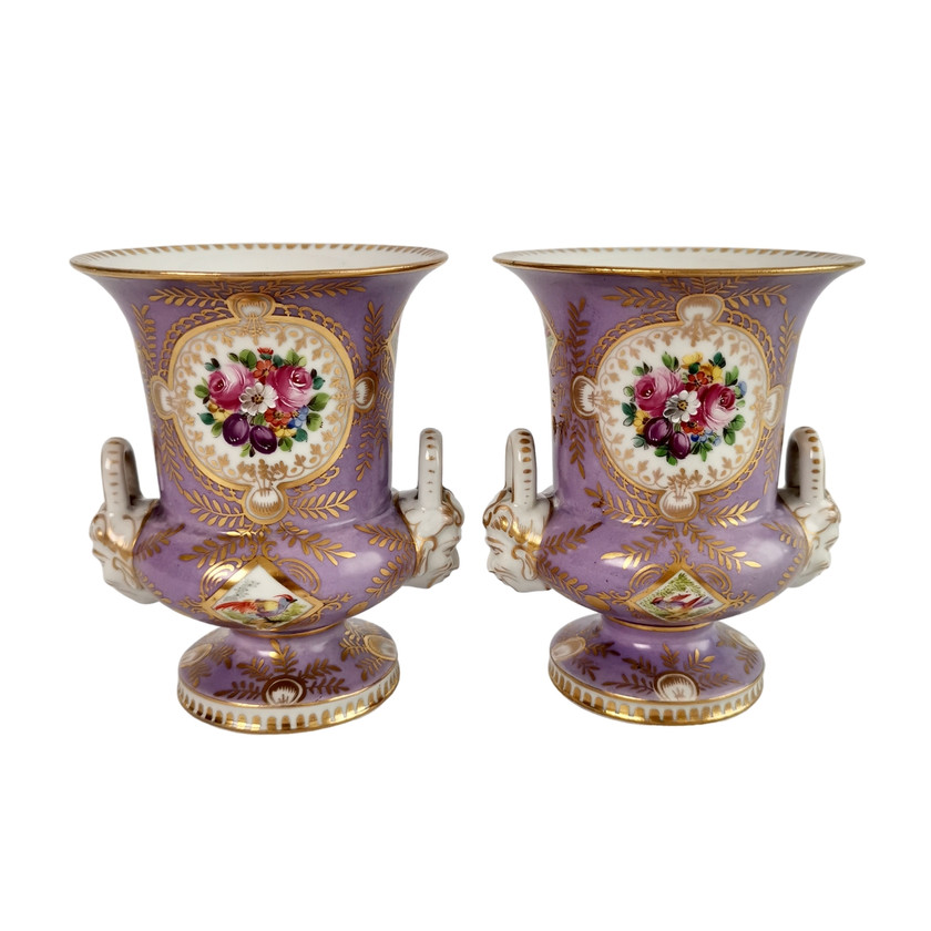 Two lilac campana vases