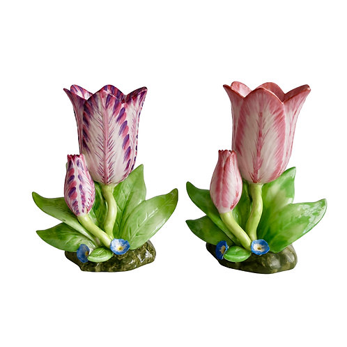 Mottahedeh tulip vases, reproduction of 19thC Staffordshire, 1980-2000