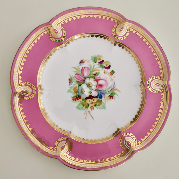 Coalport plate possibly painted by Thomas Dixon