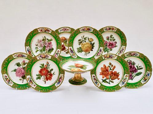 Paris Feuillet Neveu part dessert service, ca 1835