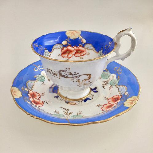 Antique coffee cup, Rococo Revival, Samuel Alcock ca 1835