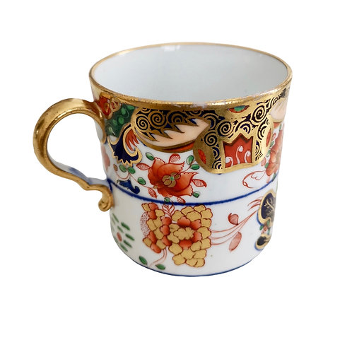 Spode orphaned coffee can, Imari Tobacco Leaf patt. 967, ca 1806