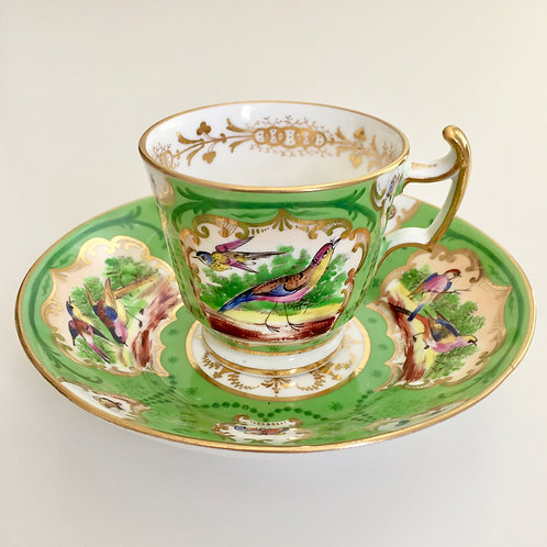 Collectable cup, hand painted birds, Coalport ca 1815