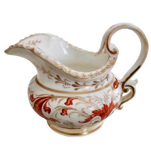 Coalport milk jug, Pembroke patt. 952, ca1820 (A/F)