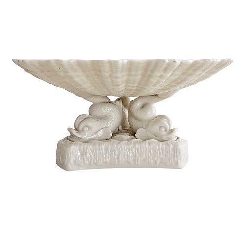 Comport with three dolphins, Belleek 1863-1890