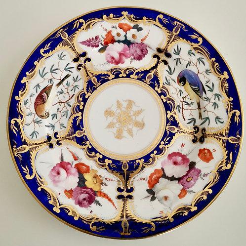 Coalport plate, pattern 759 with birds 1815-1820