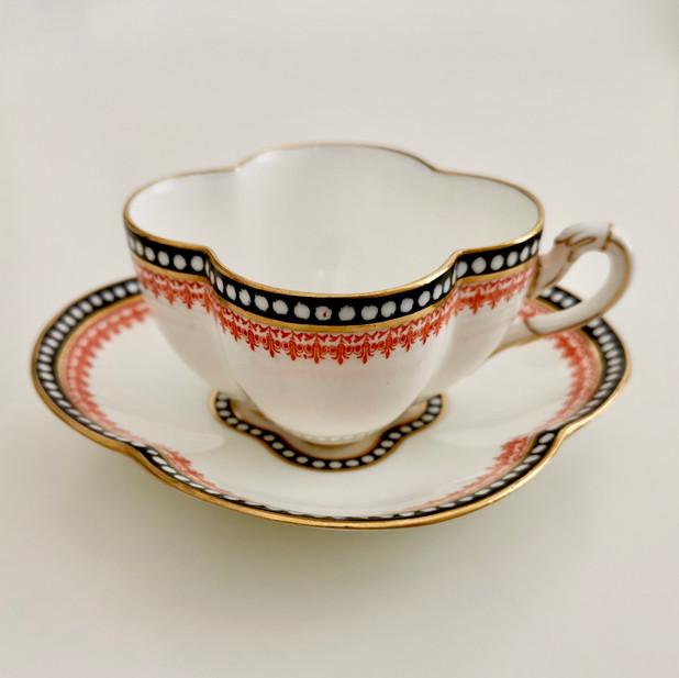 Coalport teacup quatrefoil, 1875-1881