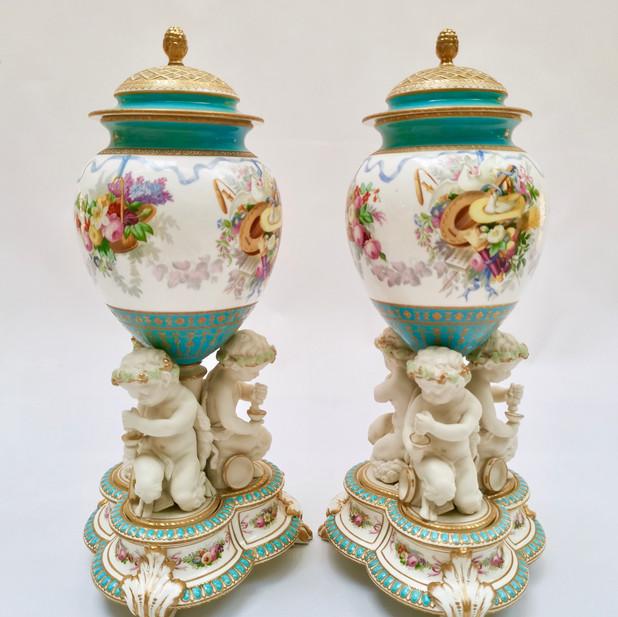 Pair of Copeland potpourri vases, 1891