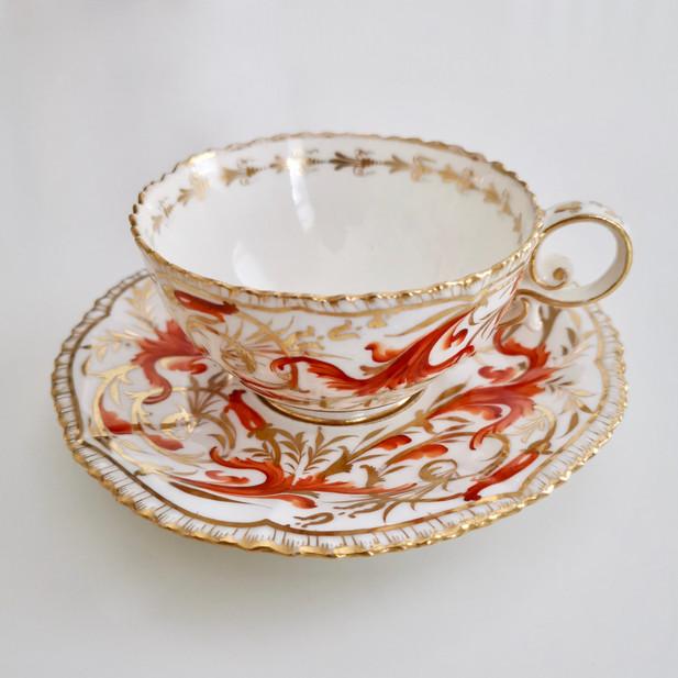 Coalport Pembroke shape cup and saucer, ca 1820