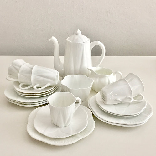 "Shelley ""Dainty White"" coffee service for 6, 1926-1966"