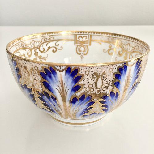Antique slop bowl, acanthus leaves Davenport ca 1850