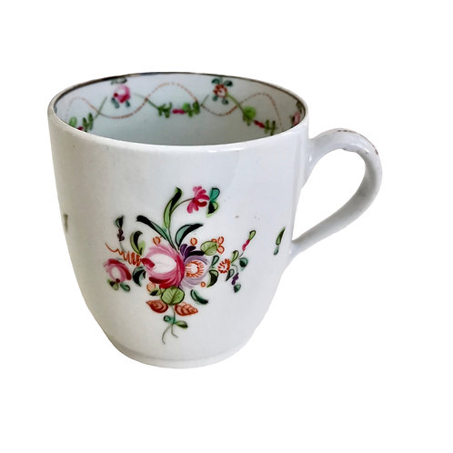 New Hall orpaned coffee cup, hybrid paste, 1790s