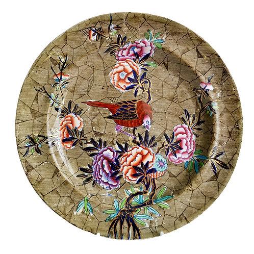 Spode creamware plate, Tumbledown Dick patt. 3716, ca 1824