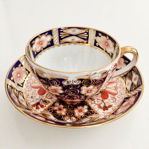 Teacup and saucer, Royal Crown Derby Imari, 1916