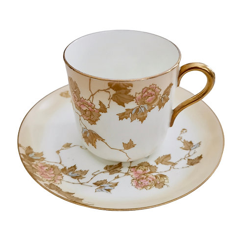 Brownfield breakfast cup, Aesthetic Movement blush ivory, 1880s