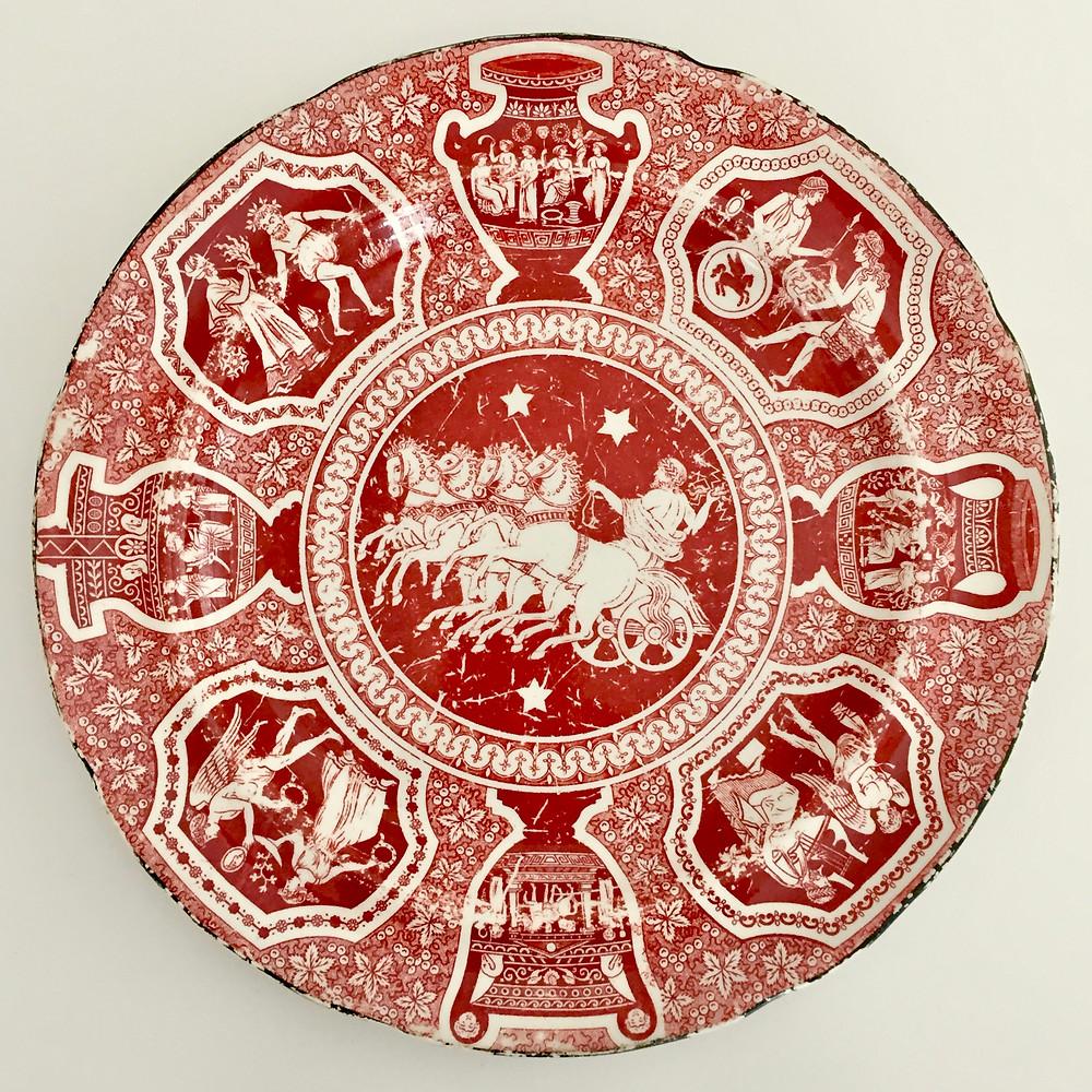 Herculaneum Greek plate, ca 1810