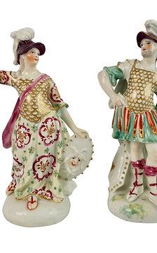 Derby porcelain figures of Mars and Minerva, ca 1765